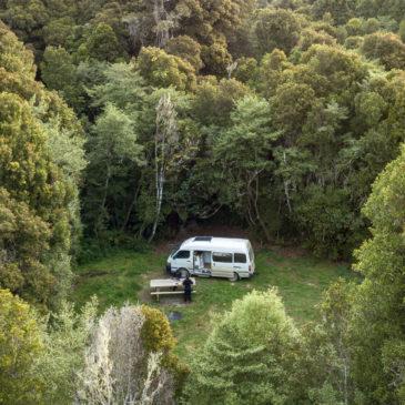 notre vie en van en Nouvelle-Zélande